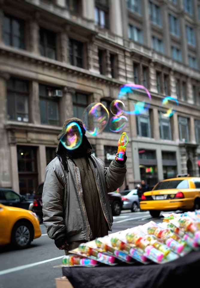 New York Bubble Man