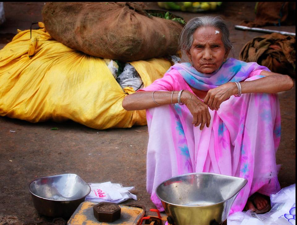 Woman Selling Milk