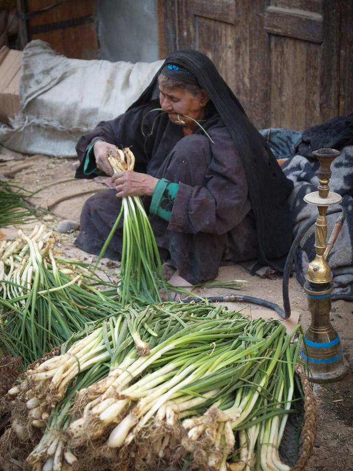 Women Selling Leeks