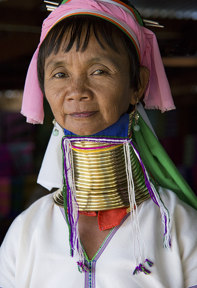 Portrait of a Long Neck Woman, Myanmar